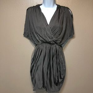Black Halo Gray Draped Cocktail Dress Size XS